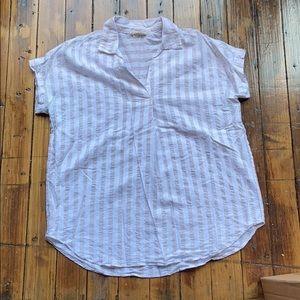 Cotton short sleeve stripe top